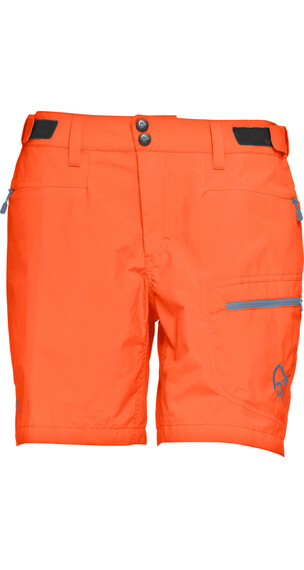 Norrøna W's Bitihorn Lightweight Shorts Orange Alert